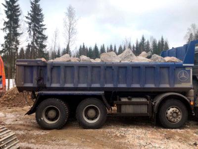 Metsäautotien ja kääntöpaikan rakentaminen