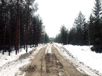 Metsäautotien rakentaminen Mäntsälässä betonimurskeella