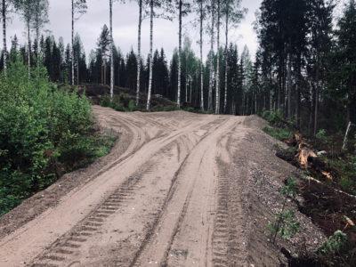 Gles Rock Betonimursketta 0-35mm metsäautotien pohjana