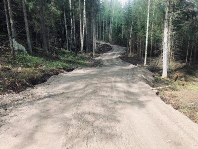 Betonimursketta 0-35mm metsäautotien pohjana